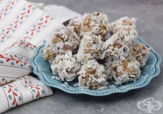 Намалете стреса с бонбони от орехи, фурми и кокос - изображение