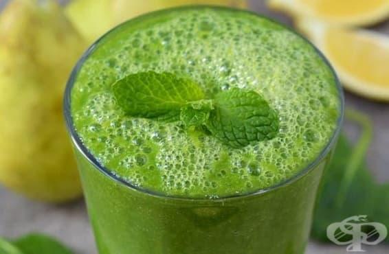 Насърчете имунитета с напитка от круши, спанак, джинджифил и ленено семе - изображение