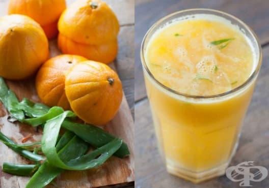 Направете си детоксикираща напитка от портокал и алое - изображение