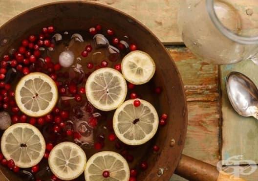 Направете си детоксикираща напитка от лайм и червена боровинка - изображение