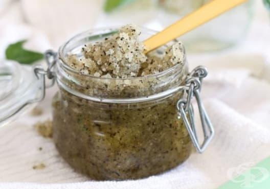 Направете си ексфолиант за кожа от мед, зехтин, захар и зелен чай - изображение