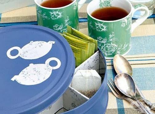 Направете си сами кутия за чай, билки или подправки - изображение