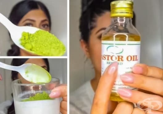Насърчете растежа на косата с матча, кокос и рициново масло - изображение