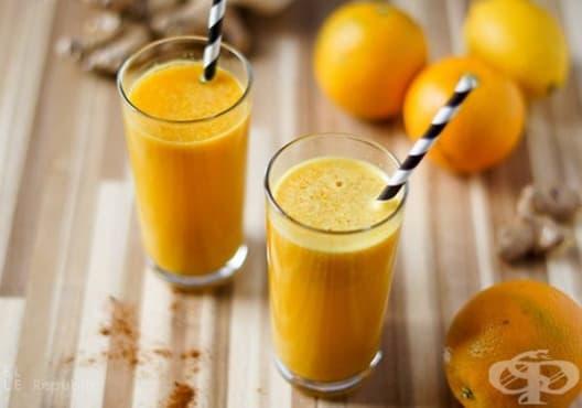 Облекчете алергията с напитка от краставица, портокал и морков - изображение