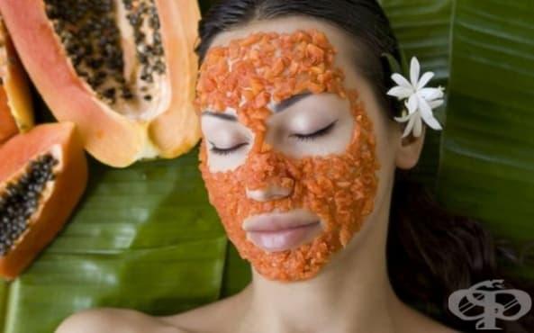 Заличете акнето по кожата с помощта на папая - изображение