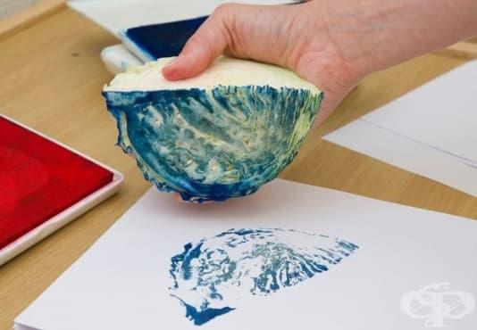 Насърчете творческото мислене на децата с направата на печат от зеле - изображение