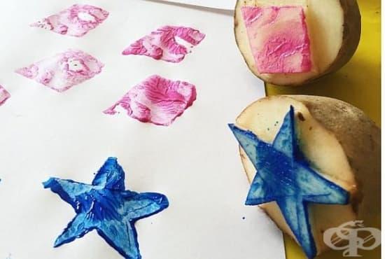 Провокирайте творческото мислене на децата с направата на печати от картоф - изображение