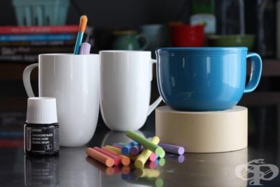 Направете чаши с персонална декорация чрез 4 лесни стъпки - изображение