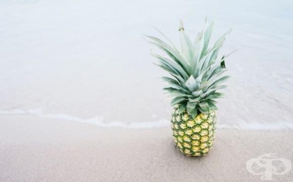 Поставяйте резен ананас върху болезнените синини след травма - изображение