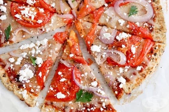 Влезте във форма с пица от карфиол - изображение