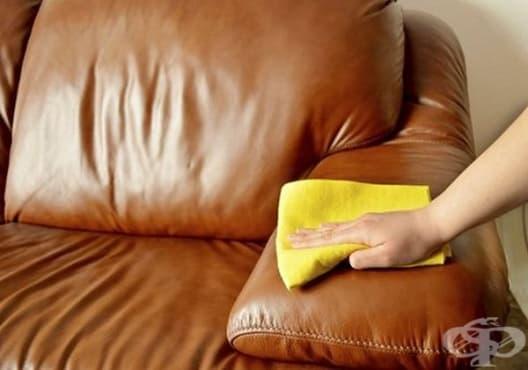 Почистете кожените изделия с оцет и зехтин - изображение