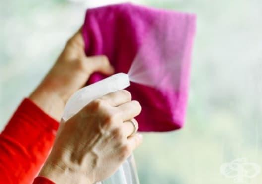 Почистете прозорците с екологичен препарат от спирт и оцет - изображение