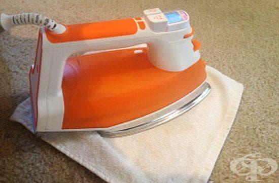 Почистете упоритите петна от килима с ютия и оцет - изображение