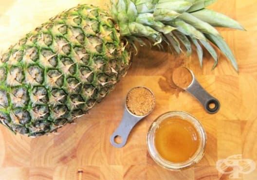 Премахнете черните точки с мед и ананас - изображение