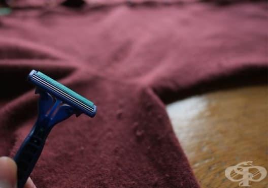 Премахнете мъха по вълнените дрехи със самобръсначка - изображение
