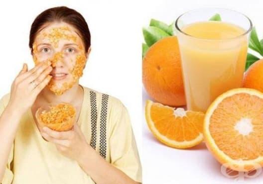 Премахнете петната по кожата с мед, мляко и портокал - изображение