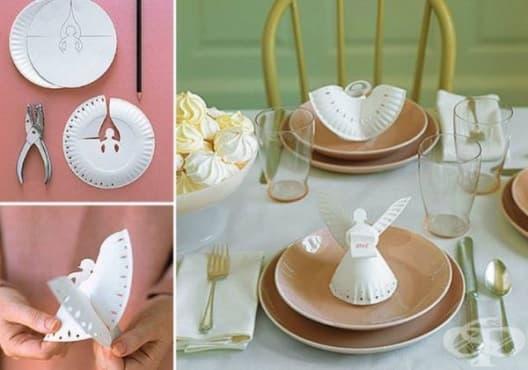 Превърнете картонените чинии в красива коледна декорация - изображение