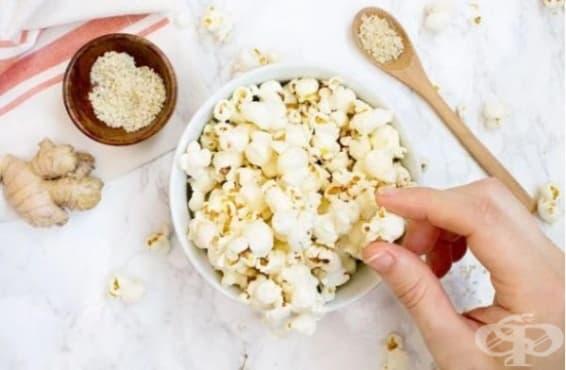 Направете си здравословни пуканки със зехтин, сусам и джинджифил - изображение