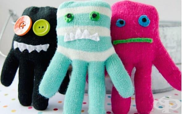 Рециклирайте старите ръкавички в забавни играчки - изображение