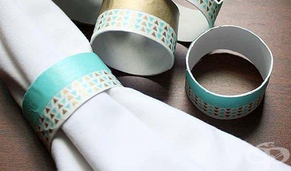 Направете си рингове за салфетки от ролки тоалетна хартия - изображение