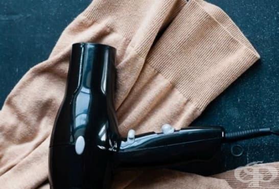 Използвайте сешоар за спешно и лесно изглаждане на дрехите - изображение