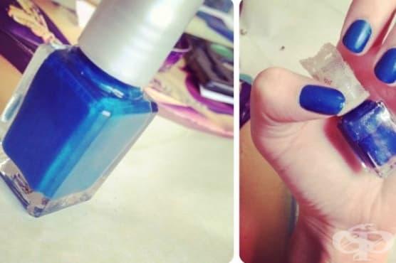 Как да си приготвите цветен лак от старите сенки за очи - изображение