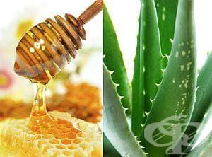 Смесете сока от алое с мед като противовъзпалително или слабително средство - изображение