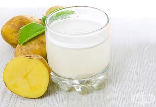 Почистете порите на лицето с картофен сок и сода - изображение