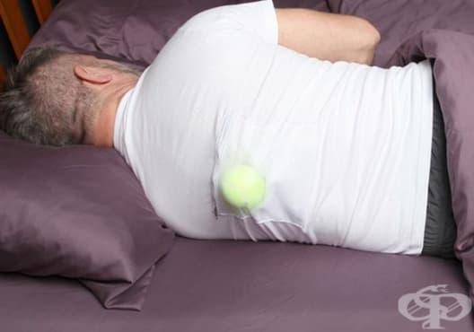 Спрете хъркането с топка за тенис - изображение