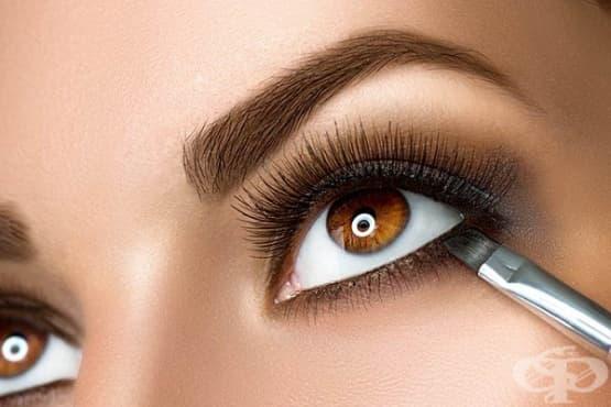 Подчертайте кафявите очи с 6 вида грим - изображение