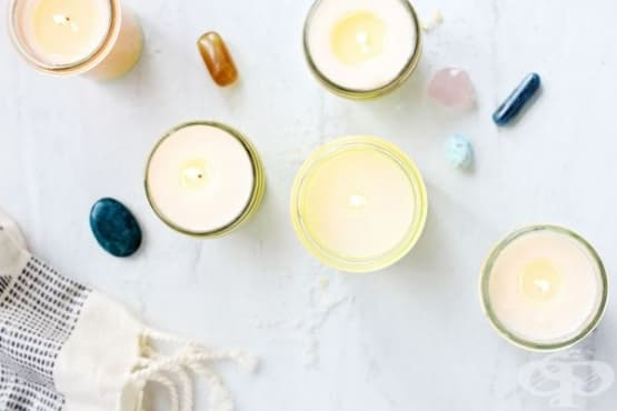 Как да си направим ароматни свещи с лечебни кристали - изображение