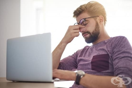Как да облекчим очите при натоварване от компютър - изображение