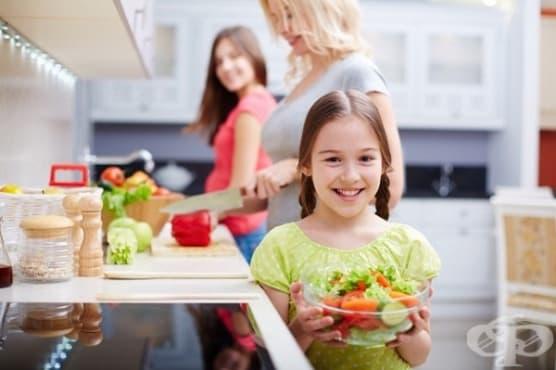 Научете детето на 5 здравословни навика на хранене - изображение