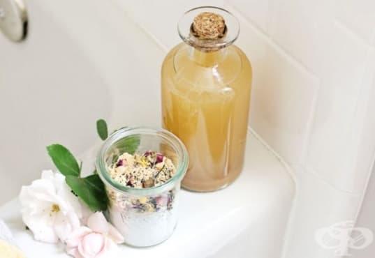 Направете си вана с ябълков оцет, сол, джинджифил и сода - изображение