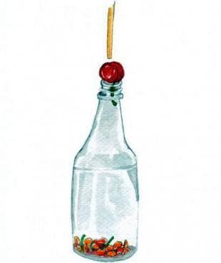 За махане на костилки използвайте обикновена стъклена бутилка - изображение