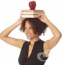 За стройно тяло и красива походка, ходете с книга върху главата - изображение