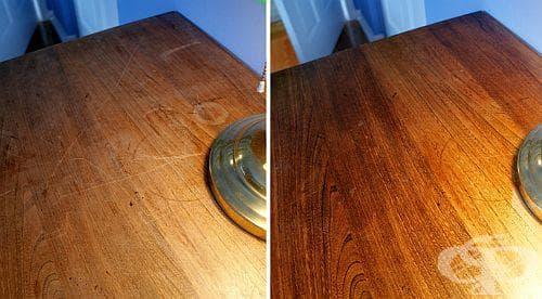 Използвайте 5 подръчни средства, за да заличите драскотините по мебелите - изображение