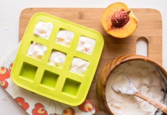Направете си здравословни блокчета от праскова, мед и кисело мляко - изображение
