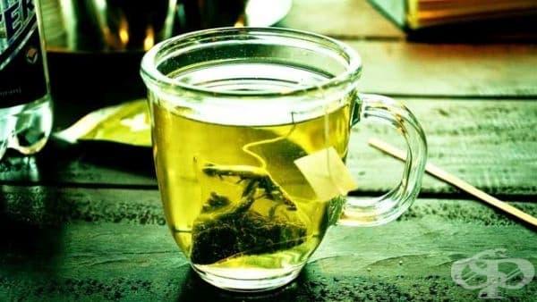 Укрепете косата си с отвара от зелен чай - изображение