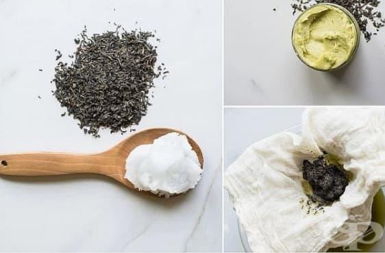 Направете си слънцезащитен лосион от зелен чай и кокосово масло - изображение