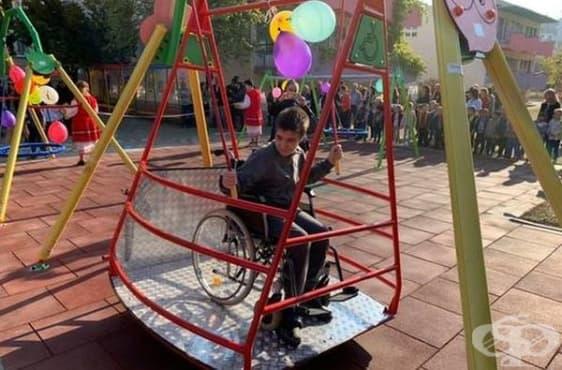 Децата с увреждания във Враца имат своя площадка за игри - изображение