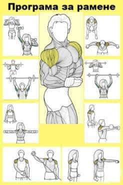 Програма за здрави и масивни рамене - изображение