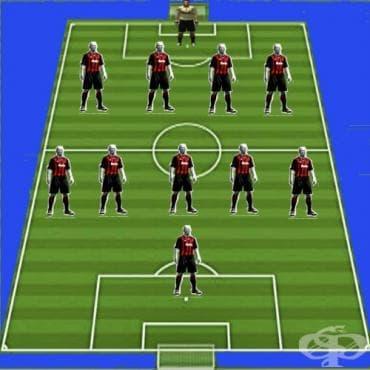 Системи на игра във футбола – 4-5-1 - изображение