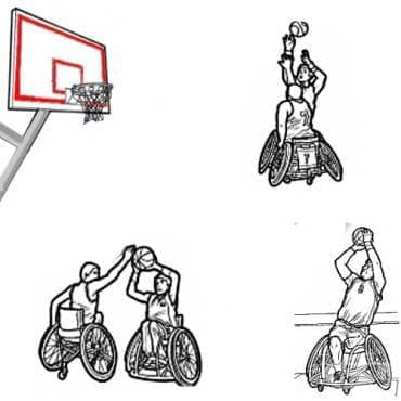 Баскетбол с инвалидни колички - изображение