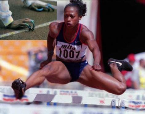 Гейл Дивърс - 100 метра спринт и 100 метра с препятствия - изображение