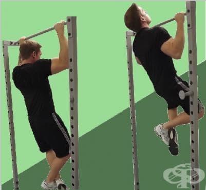 Набиране за гръб на нисък лост - изображение