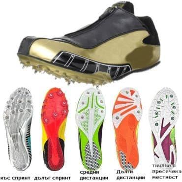 Лекоатлетически шпайкове - изображение