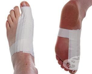Спортен тейпинг на палеца на крака - изображение