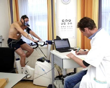 Велоергометричен тест на Астранд-Риминг за определяне на максималната кислородна консумация - изображение