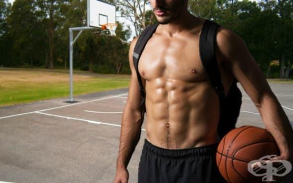 Тренировка за коремна преса с баскетболна топка - изображение